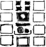 Jogo de frames desenhados mão do grunge Imagens de Stock Royalty Free