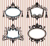 Jogo de frames do vintage Imagens de Stock Royalty Free