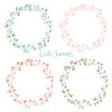 Jogo de frames florais Foto de Stock