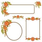 Jogo de frames ou de bandeiras do outono Fotos de Stock