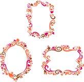 Jogo de frames retros coloridos decorativos Fotografia de Stock Royalty Free