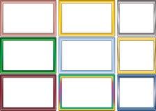 Jogo de frames simples da foto de cor Foto de Stock Royalty Free