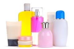 Jogo de frascos cosméticos Fotografia de Stock Royalty Free