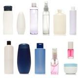 Jogo de frascos plásticos Fotografia de Stock Royalty Free