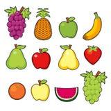Jogo de frutas suculentas Foto de Stock Royalty Free