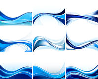 Jogo de fundos abstratos Imagens de Stock