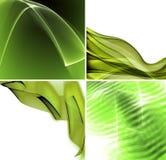 Jogo de fundos abstratos verdes ilustração do vetor