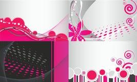 Jogo de fundos florais abstratos do negócio Foto de Stock Royalty Free