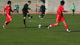 Jogo de futebol imagens de stock royalty free