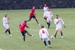 Jogo de futebol foto de stock