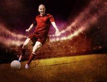 Jogo de futebol Imagens de Stock