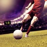 Jogo de futebol Fotos de Stock Royalty Free