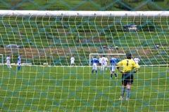 Jogo de futebol Fotografia de Stock Royalty Free