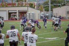 Jogo de futebol da High School Fotografia de Stock Royalty Free