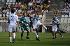 Jogo de futebol de Kaposvar - de Bríxia u18 Imagens de Stock