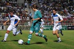 Jogo de futebol de Kaposvar - de Bríxia u18 Fotografia de Stock