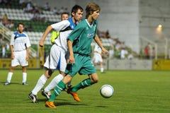 Jogo de futebol de Kaposvar - de Bríxia u18 Imagem de Stock Royalty Free