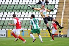 Jogo de futebol de Kaposvar - de Diosgyor imagem de stock
