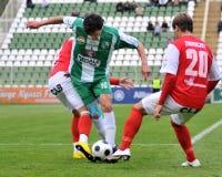 Jogo de futebol de Kaposvar - de Diosgyor imagens de stock royalty free