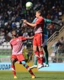 Jogo de futebol de Kaposvar - de Diosgyor fotos de stock