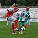 Jogo de futebol de Kaposvar - de Diosgyors foto de stock