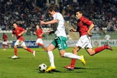 Jogo de futebol de Kaposvar - de Honved Imagens de Stock Royalty Free