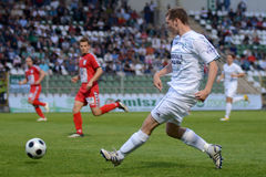 Jogo de futebol de Kaposvar - de Szolnok Foto de Stock