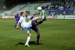 Jogo de futebol de Kaposvar - de Ujpest Imagens de Stock