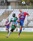 Jogo de futebol de Kaposvar - de Vasas Fotos de Stock Royalty Free
