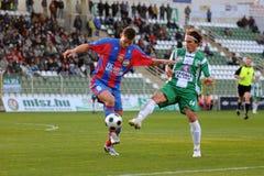 Jogo de futebol de Kaposvar - de Vasas Foto de Stock