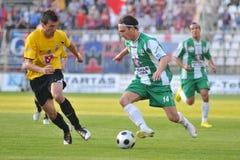 Jogo de futebol de Kaposvar - de Videoton Fotografia de Stock