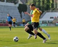 Jogo de futebol de Kaposvar - de Videoton Imagens de Stock Royalty Free