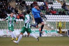 Jogo de futebol de Kaposvar - de Zalaegerszeg fotografia de stock royalty free