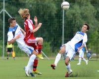 Jogo de futebol de Luneburg - de Bríxia Fotografia de Stock