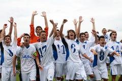 Jogo de futebol de Luneburg - de Bríxia Fotos de Stock Royalty Free