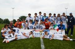 Jogo de futebol de Luneburg - de Bríxia Imagens de Stock Royalty Free