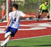 Jogo de futebol de NPSL Imagem de Stock Royalty Free