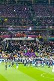 Jogo de futebol final do EURO 2012 do UEFA Fotos de Stock