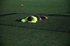 Jogo de futebol o goleiros número 20 Imagem de Stock