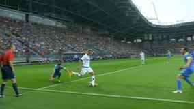 Jogo de futebol, OBJETIVO video estoque