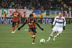 Jogo de futebol Shakhtar Donetsk contra Bayern Munich imagem de stock