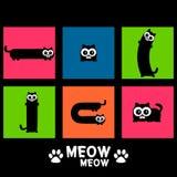 Jogo de gatos engraçados ilustração royalty free