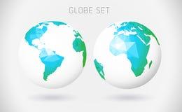 Jogo de globos do vetor Foto de Stock
