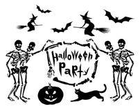 Jogo de ilustrações de Halloween Imagem de Stock