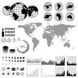 Jogo de Infographics Foto de Stock Royalty Free