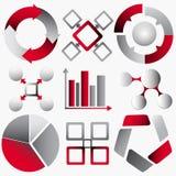 Jogo de Infographics ilustração stock