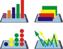 Jogo de Infographics ilustração do vetor