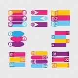 Jogo de Infographics Vector o molde para o diagrama, o gráfico, a apresentação e a carta Foto de Stock Royalty Free