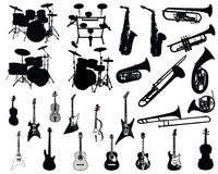 Jogo de instrumentos musicais Fotos de Stock Royalty Free