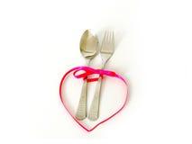 Jogo de jantar romântico Imagens de Stock Royalty Free